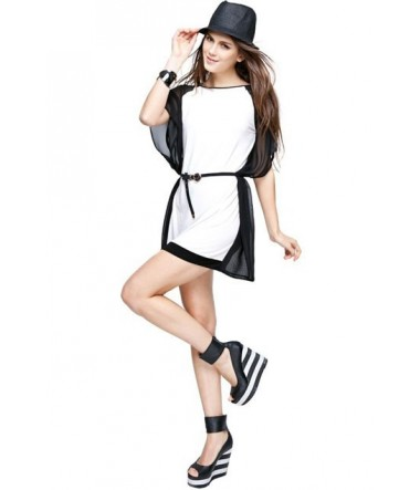 Modern Black White Dress